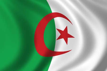 algeria: Flag of Algeria waving in the wind