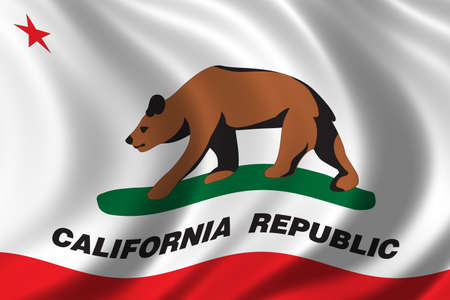 democrats: Flag of California waving in the wind Stock Photo