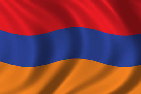 Flag of Armenia waving in the wind Stock Photo - 299269