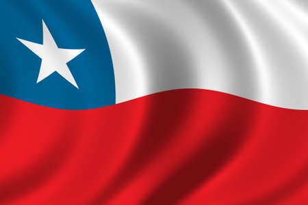Flag of Chile waving in the wind photo