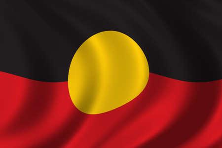 aboriginal: Abor�genes Bandera ondeando en el viento