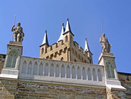 burg: Burg Hohenzollern - Castle Hohenzollern in South Germany