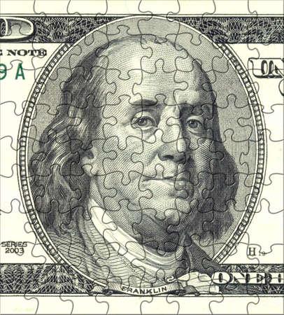 Franklin Puzzle Portrait Stock Photo - 347699