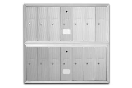 Letterboxes - main letterbox in an apartment building - including clipping path photo