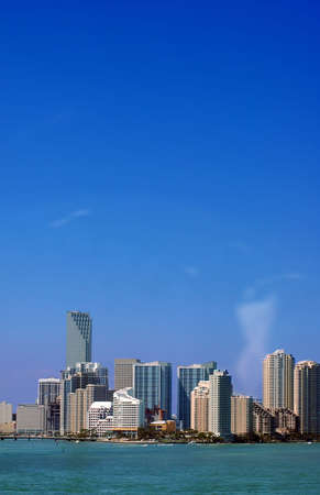 Miami Skyline - view from Key Biscayne photo