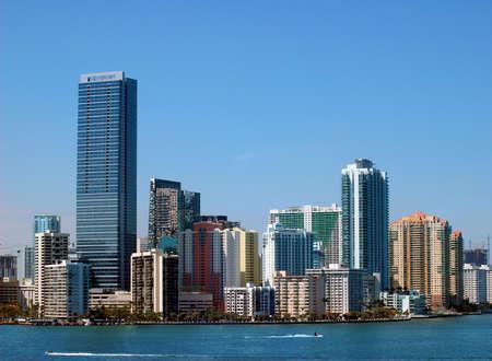 Miami Skyline - view from Key Biscayne Stock Photo - 376479