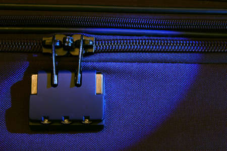 locked up: Luggage safety - suitcase zipper locked up for security