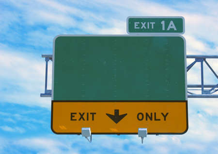 Highway sign - direction and exit sign Stock Photo - 405466