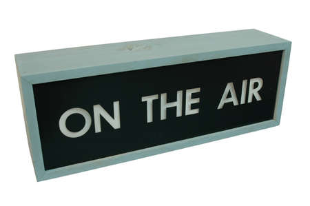 On the air sign - wooden box with the words  photo