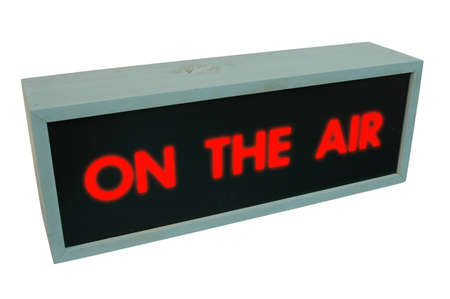 On the air sign - wooden box with the words  Stock Photo - 409710