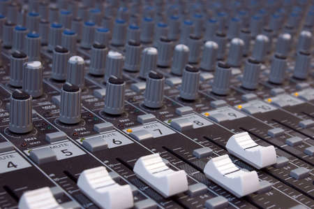 Audio Mixer - close up with shallow depth of field photo