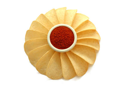 Potato chips - with red pepper photo