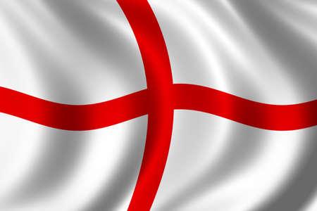 la union hace la fuerza: Bandera de Inglaterra que agita en el viento Foto de archivo