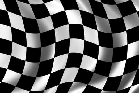 chequer: Race Flag waving in the wind