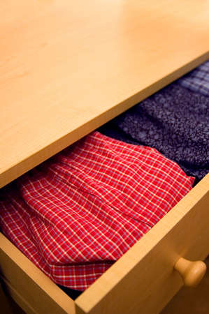 dresser: Open dresser - open drawer showing boxer shorts