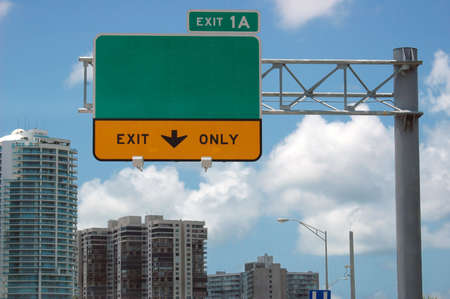 Highway sign - direction and exit sign Stock Photo - 491563