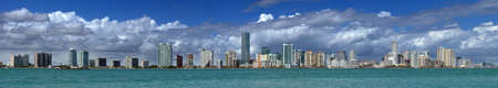 Miami Skyline - extreme panorama view at the Miami skyline Stock Photo