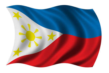 Flag of the Philippines waving in the wind - clipping path included Stock Photo - 618219