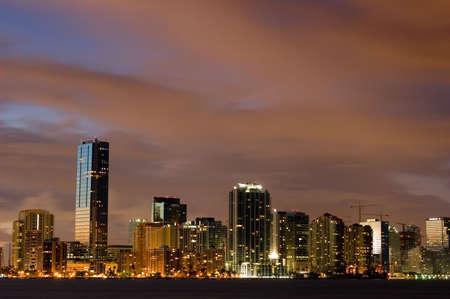 Miami Nights - Miami Skyline at dusk photo