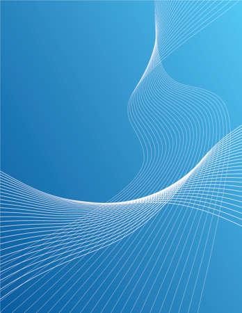 Wavy lines over gradient background Vector
