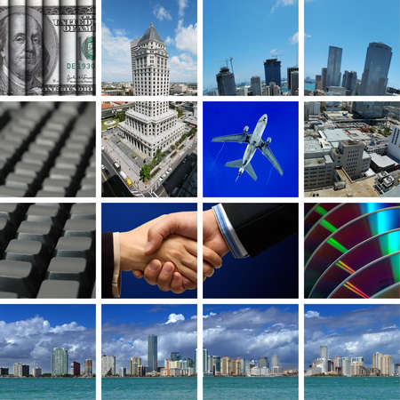 Business in Miami - comp of different business and transportation shots Stock Photo
