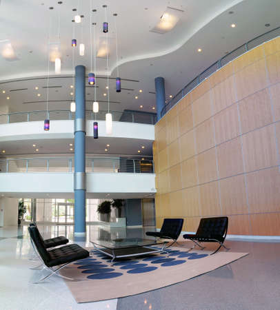 Interior view of a business lobby photo