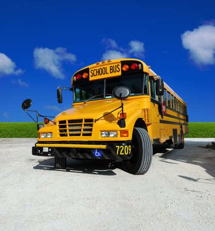 School Bus on a sunny day - detailed front of a school bus Stock Photo - 967737