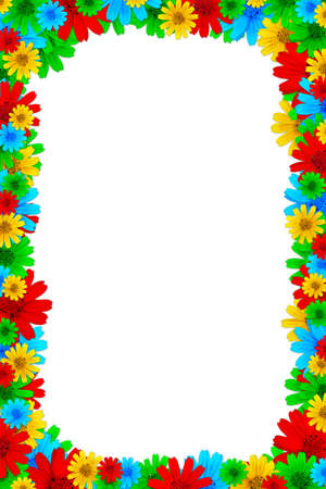 Colorful floral frame  photo