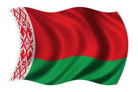 Flag of Belarus waving in the wind photo