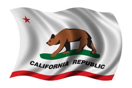 democrats: Flag of California waving in the wind - very high resolution, native format, no up sizing