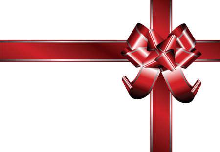 festive occasions: Cinta roja con l�neas de plata en ocasiones festivas  Vectores