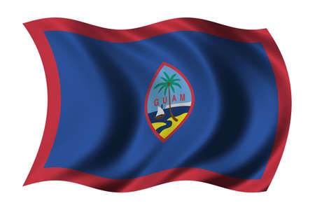 guam: Flag of Guam waving in the wind