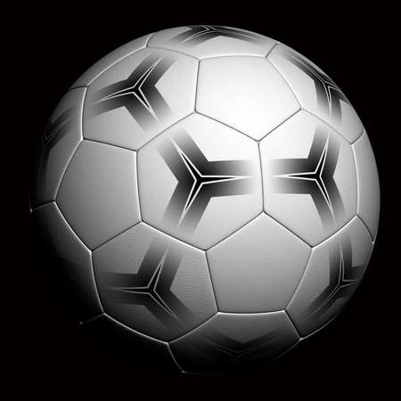 Soccer Ball - very highly detailed soccer ball render over black background photo