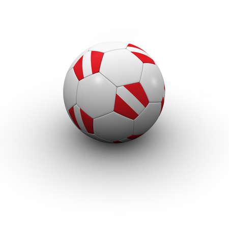 austrian: Austrian Soccer Ball - very highly detailed Austrian soccer ball with shadow Stock Photo