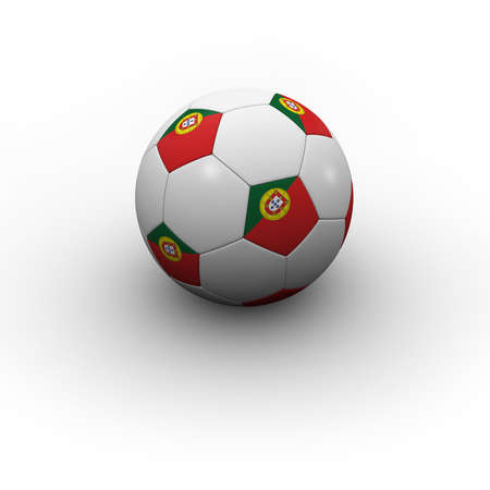Portuguese Soccer Ball - very highly detailed Portuguese soccer ball with shadow photo