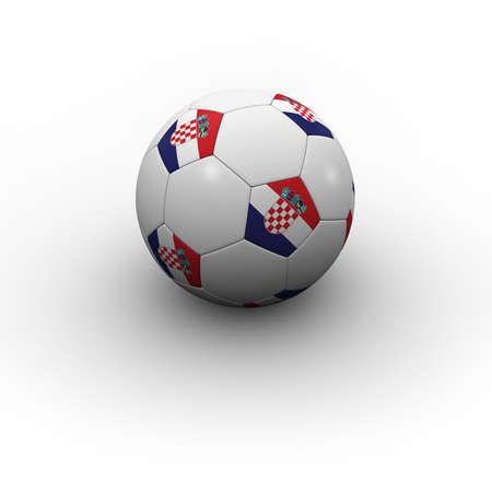 Croatian Soccer Ball - very highly detailed Croatian soccer ball with shadow photo