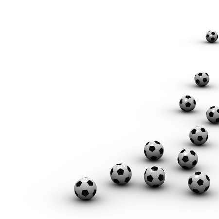 Soccer ball background with several soccer balls photo