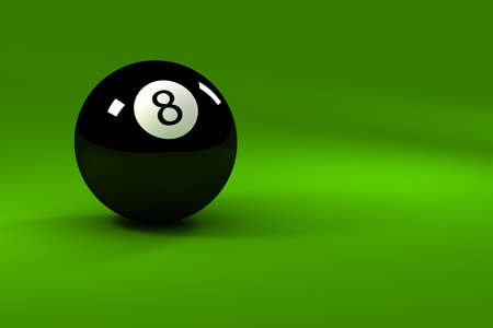 Eight ball - closeup on eightball with light reflections photo