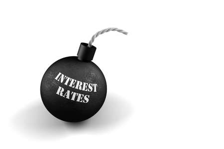 interest rates: Exploding Interest Rates - conceptual image for exploding interest rates Stock Photo