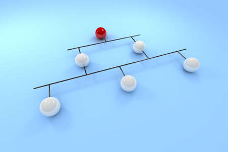 network topology: Ethernet or backbone topology - conceptual visualization of network Stock Photo