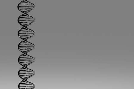 3D conceptual illustration of a DNA double helix
