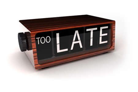 aussi: conceptuel image d'un r�veil d�montrant que vous �tes trop tard