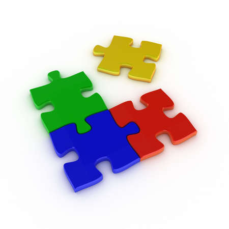 Small colored puzzle without a final match Stock Photo - 3241933