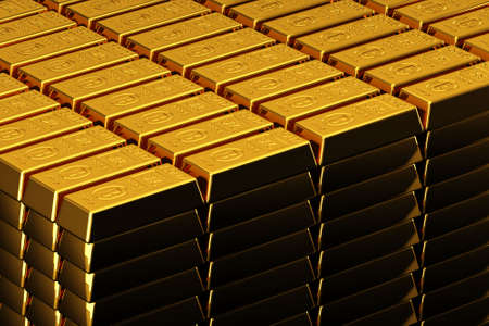 A pile of nice shiny gold bars photo