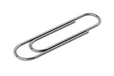 clasp: Super high resolution paper clip over white Stock Photo
