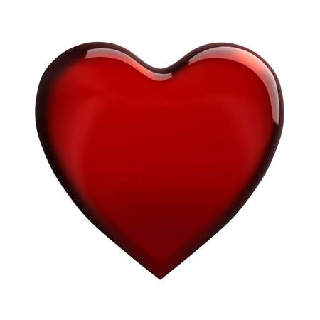 Super high-resolution 3d image of a glittery heart photo