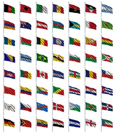 bandera bolivia: Mundo Banderas Grupo 1 de 4 - A a E - serie de banderas en orden alfab�tico a partir de Afganist�n a Guinea Ecuatorial