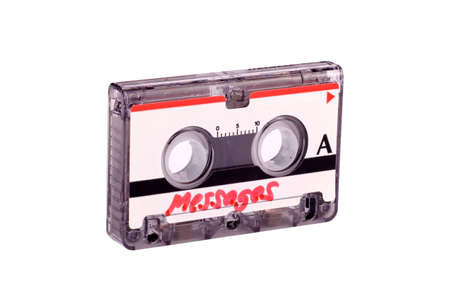 outworn: Cassette tape from answering machine Stock Photo