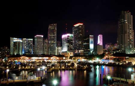 miami: Downtown Miami at night
