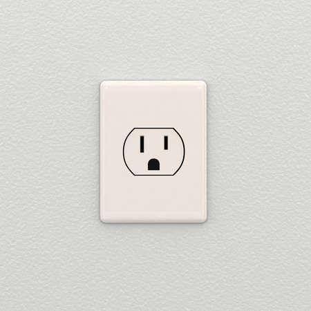 outlets: Toma de corriente el�ctrica en la pared interior blanca